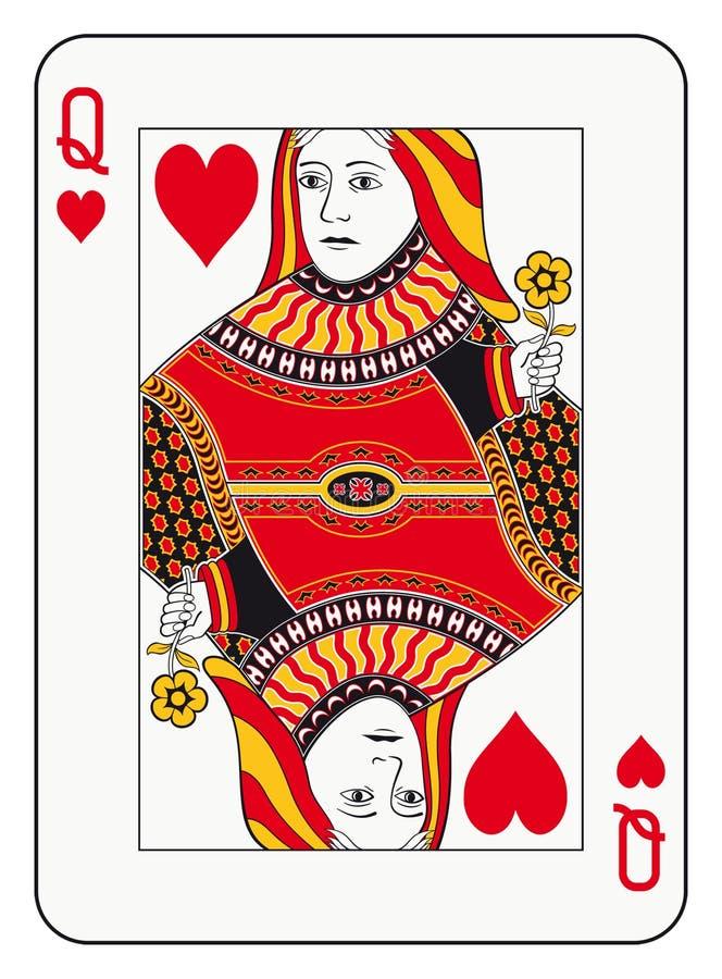 Koningin van Harten stock illustratie