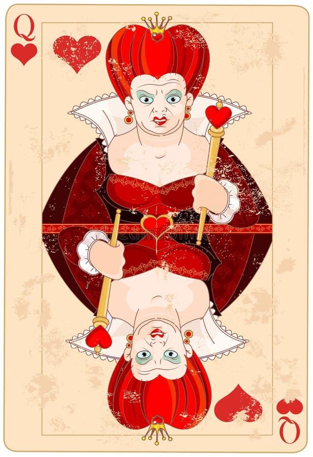 Koningin van Hartenkaart royalty-vrije illustratie