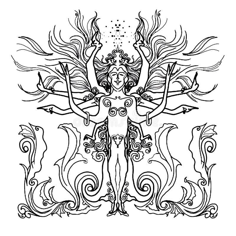 Koningin van hoop 2 vector illustratie