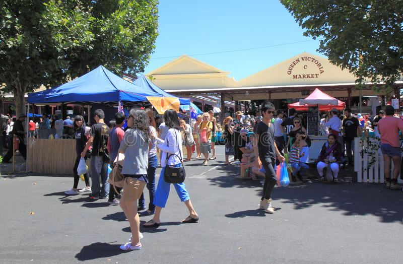 Koningin Victoria Market Melbourne royalty-vrije stock afbeelding