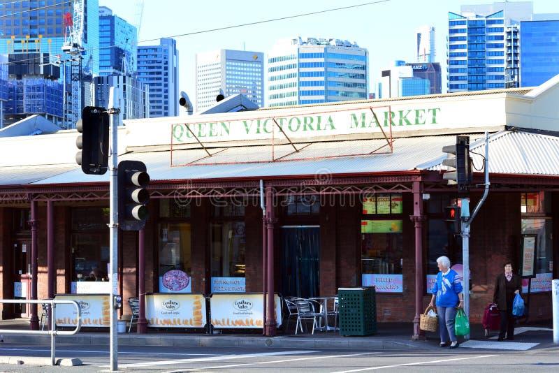 Koningin Victoria Market - Melbourne stock afbeelding