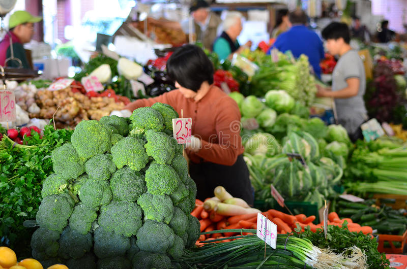 Koningin Victoria Market - Melbourne royalty-vrije stock foto's