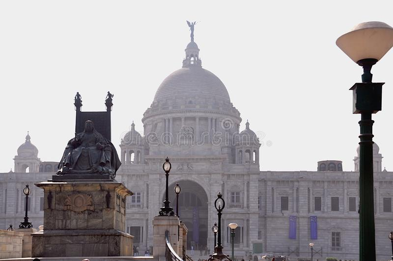 Koningin Welcoming in Victoria Memorial, Kolkata - West-Bengalen, India stock afbeelding
