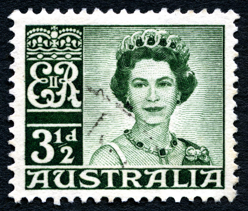 Koninginelizabeth ii Australische Postzegel stock fotografie