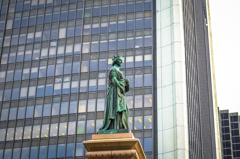 Koninginvictoria standbeeld Vierkante Victoria stock fotografie