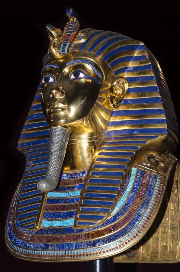Konings tut sarcofaag stock afbeelding