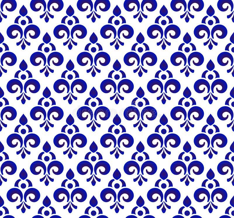 Koningsblauwenpatroon vector illustratie
