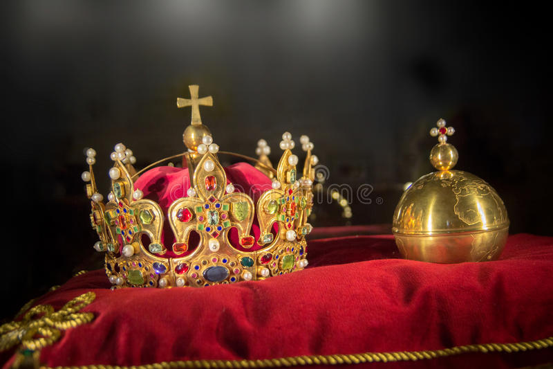 Koningskroonjuwelen royalty-vrije stock foto