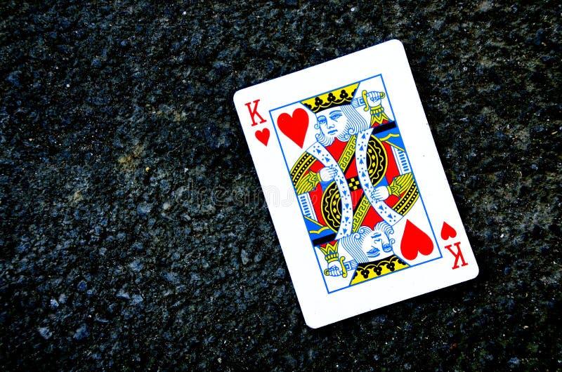 Koningsspeelkaart royalty-vrije stock foto's