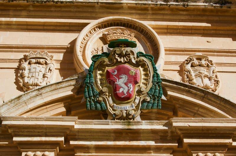 Koninklijk embleem van Segovia stad in Spanje royalty-vrije stock afbeeldingen