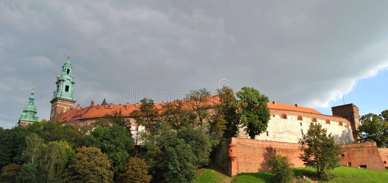 Koninklijk Kasteel in Krakau, Polen stock afbeelding