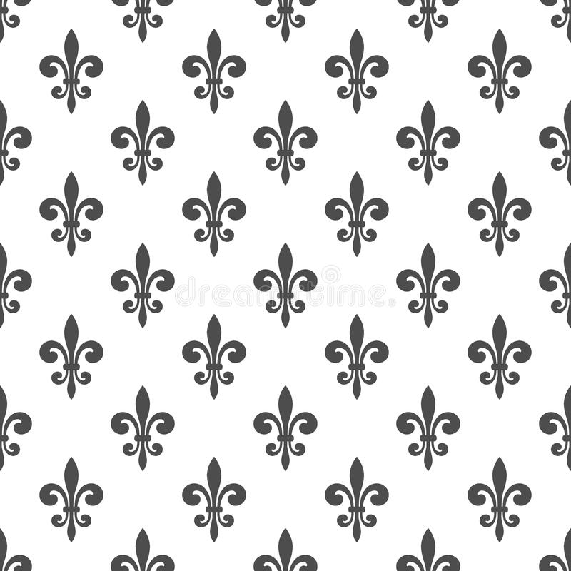 Koninklijk lelie naadloos patroon royalty-vrije illustratie