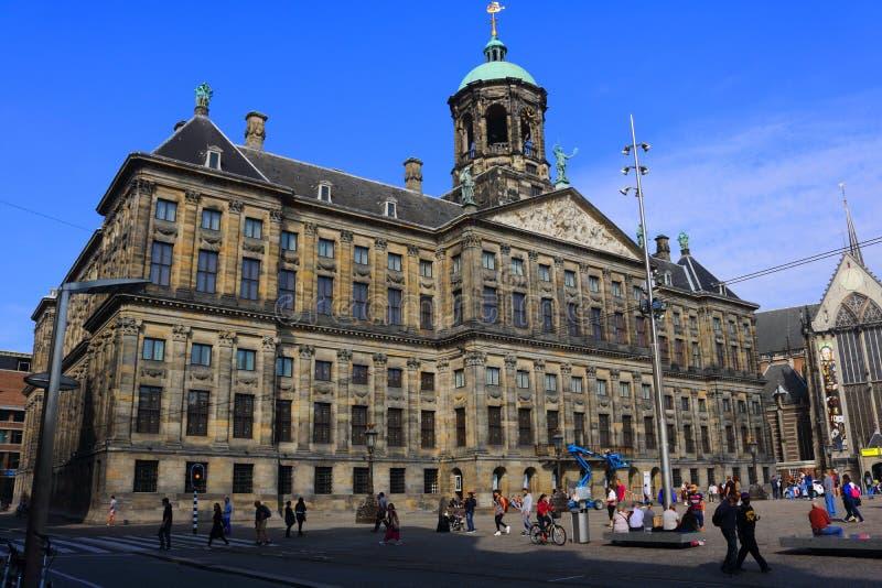 Koninklijk Paleis Amsterdam ou Paleis de Dam op images stock