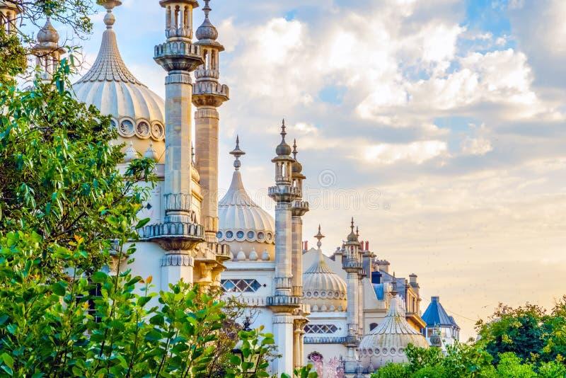 Koninklijk paviljoen in Brighton stock afbeelding