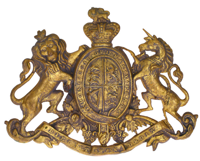 Koninklijk wapenschild royalty-vrije stock afbeelding