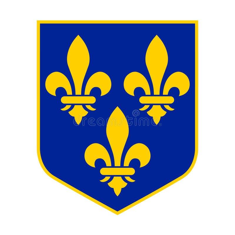 Koninklijk Wapenschild van Frankrijk stock illustratie