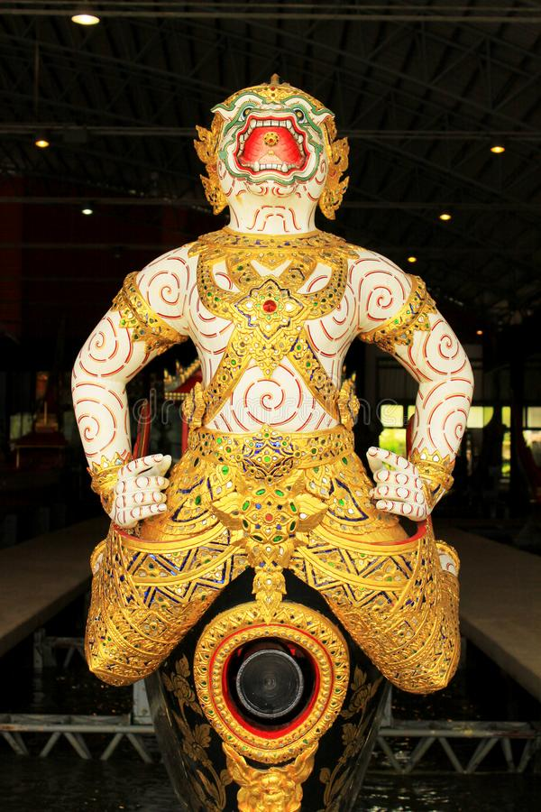 Koninklijke Aak in Nationaal Museum van Koninklijke Aken, Bangkok, Thailand royalty-vrije stock foto's