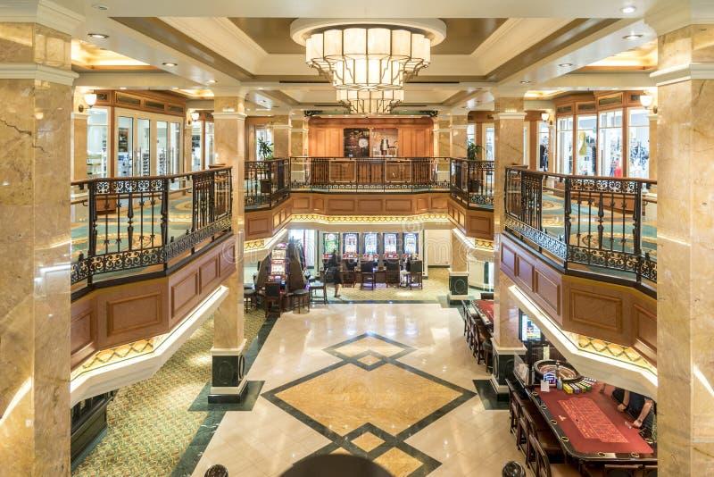 Koninklijke Arcadewinkels en Casinolidstaten Queen Elizabeth royalty-vrije stock afbeelding