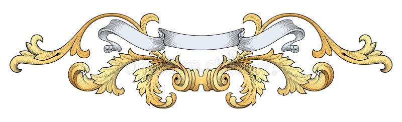 Koninklijke bannervector royalty-vrije illustratie