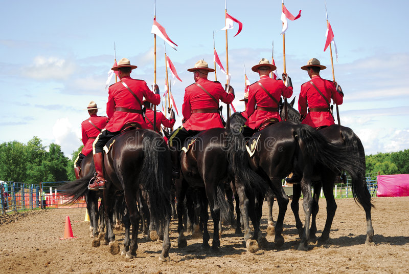 Koninklijke Canadese Bereden politie royalty-vrije stock foto's