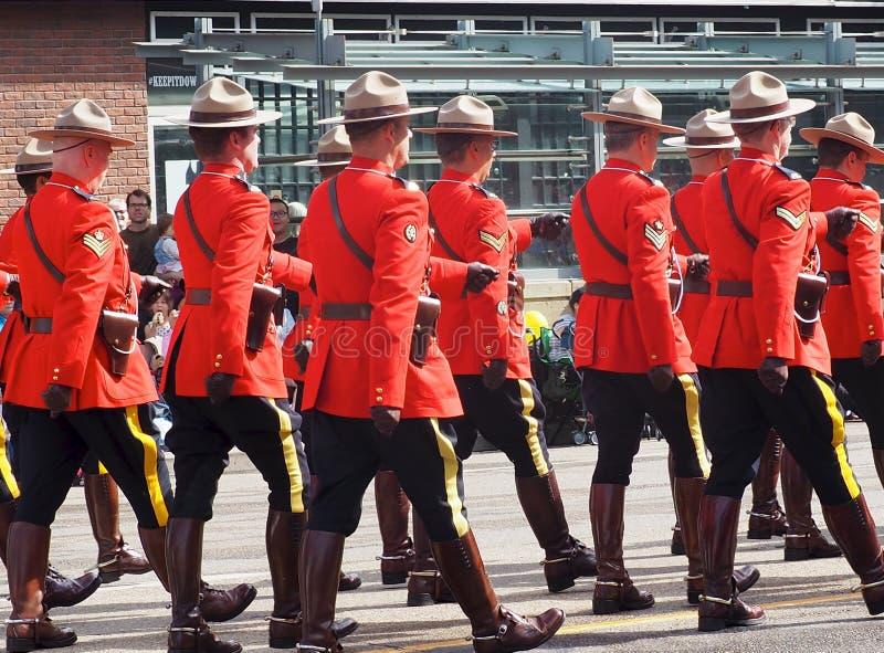 Koninklijke Canadese Bereden politie in KDays-Parade royalty-vrije stock foto's