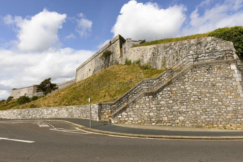 Koninklijke Citadel, Plymouth stock afbeelding