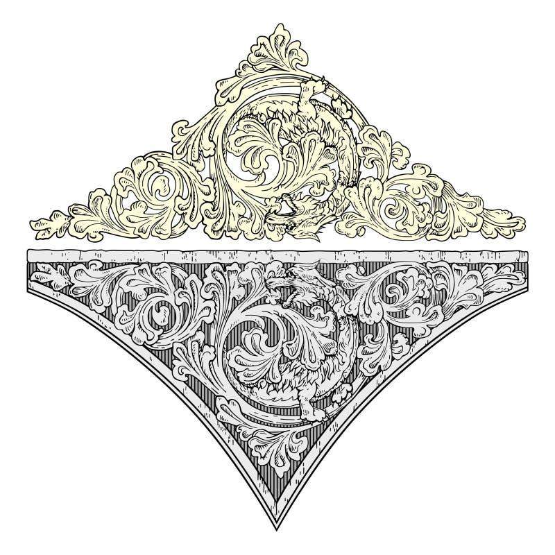 Koninklijke decoratievector stock illustratie