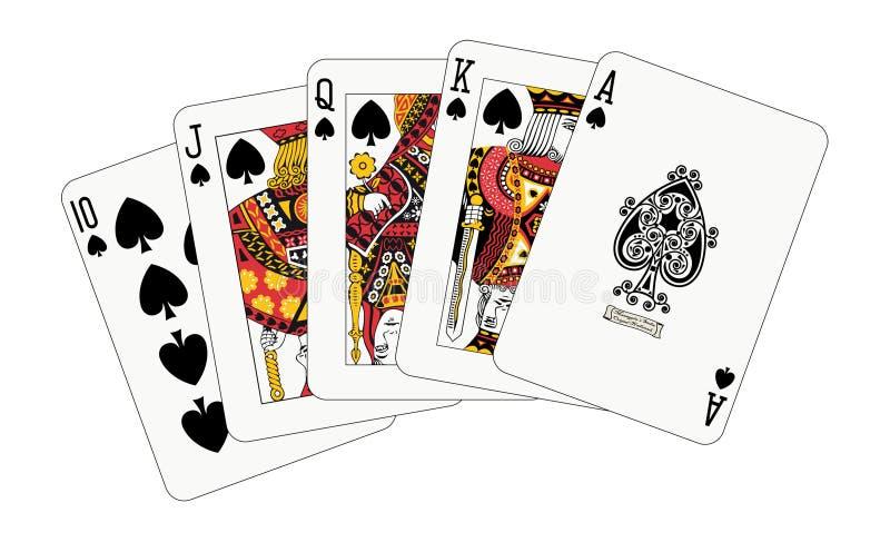 Koninklijke gelijke spade royalty-vrije illustratie