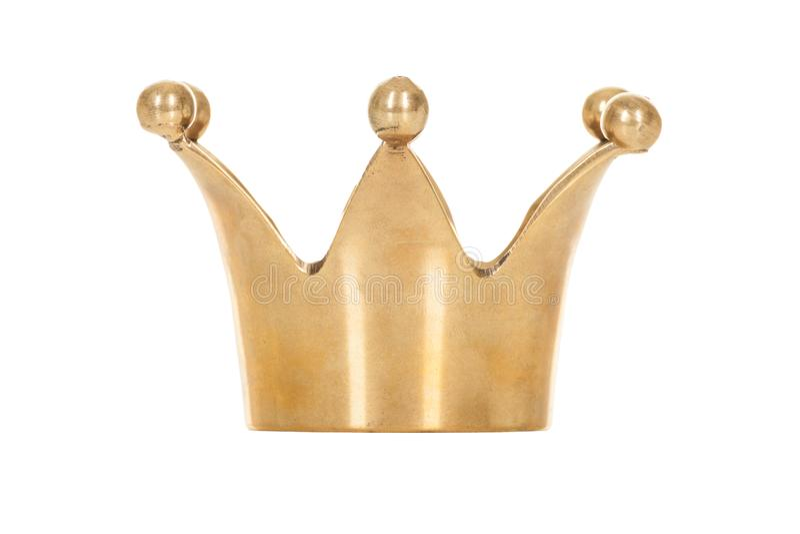 Koninklijke gouden die kroon op witte achtergrond wordt geïsoleerd royalty-vrije stock fotografie