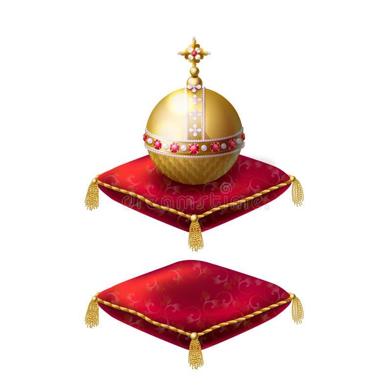 Koninklijke gouden orb vector illustratie