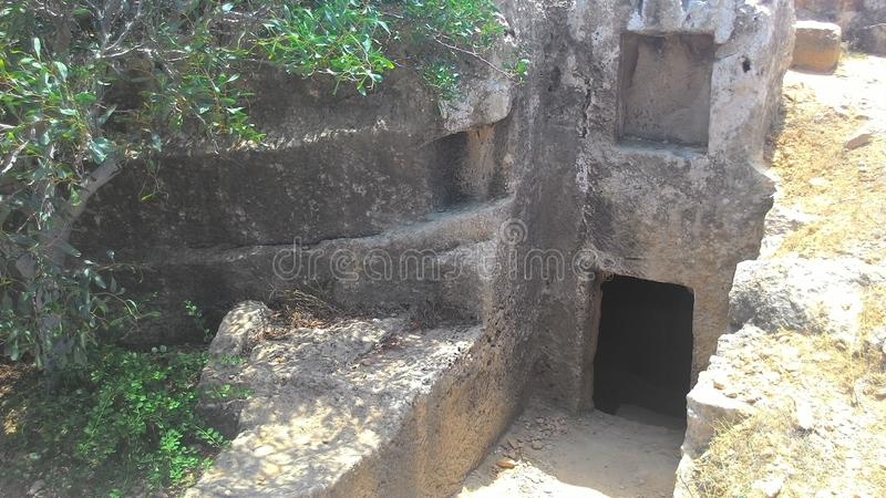 Koninklijke graven van een oude beschaving stock afbeelding