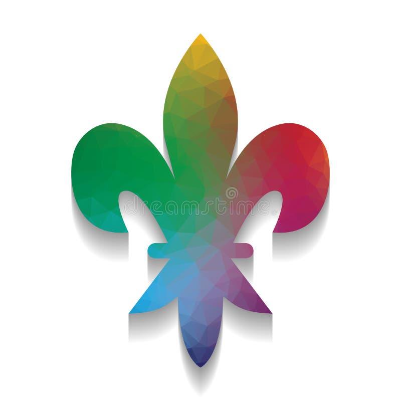 Koninklijke lelie, bloem van koning, iris van koningin Elementen voor ontwerp stock illustratie