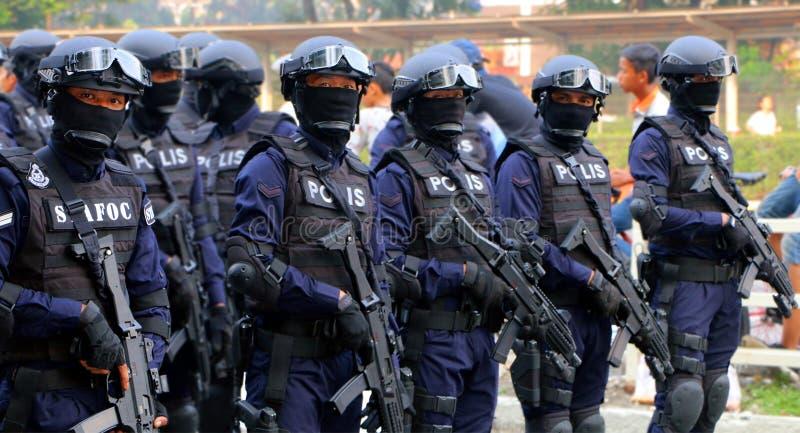 Koninklijke Maleise Politie (Speciale Kracht) royalty-vrije stock afbeelding