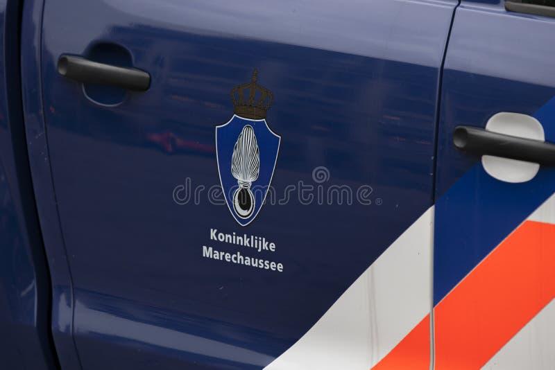 Koninklijke Marechaussee Company Car At Den Haag The Netherlands 2018.  stock image