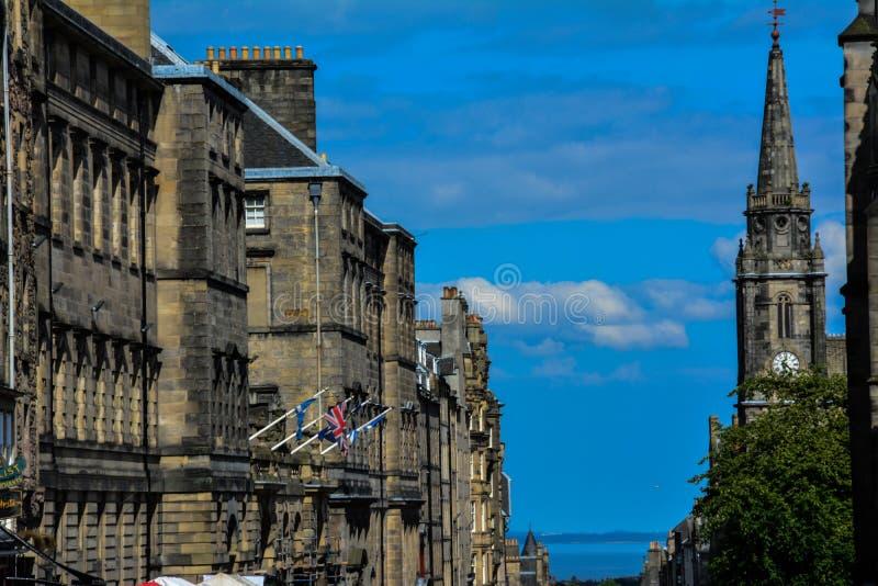 Koninklijke mijl, Edinburgh, Schotland stock fotografie