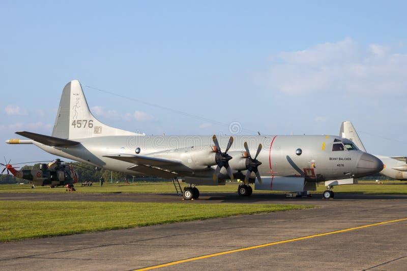 Koninklijke Noorse Marine p-3 maritieme het toezichtvliegtuigen van Orion royalty-vrije stock foto's