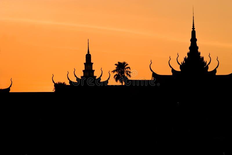 Koninklijke Palae, Pnom Penh, Kambodja. stock afbeelding