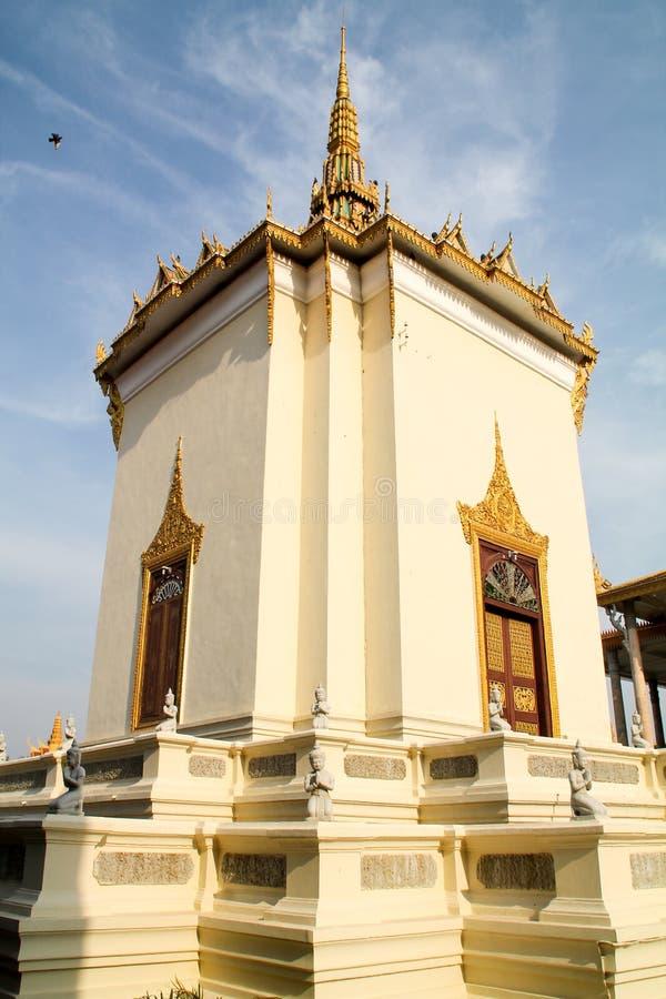 Koninklijke paleistempel in Phnom Penh royalty-vrije stock afbeeldingen