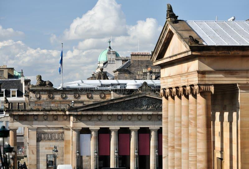 Koninklijke Schotse Academie, Schots National Gallery stock foto