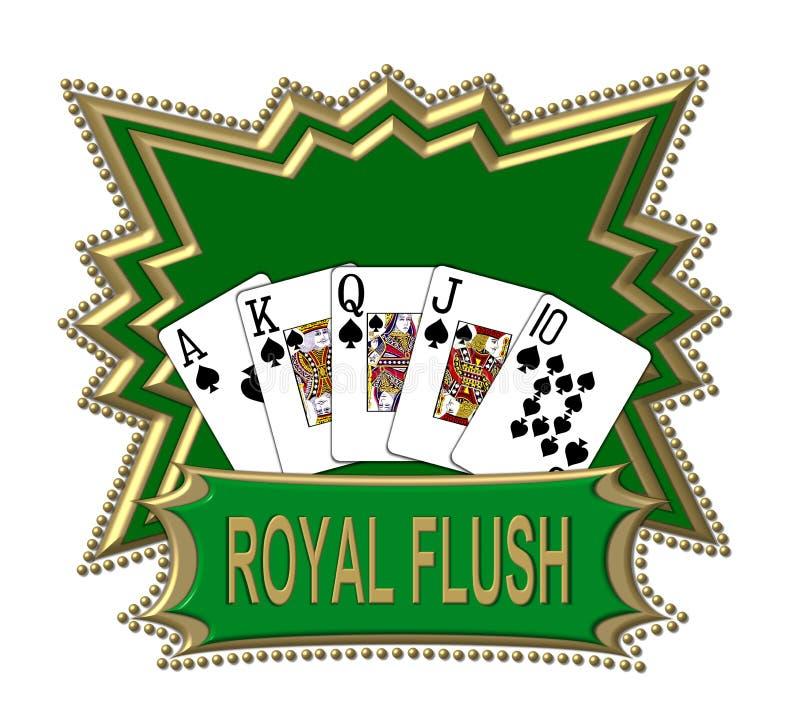 Koninklijke vloed royalty-vrije illustratie