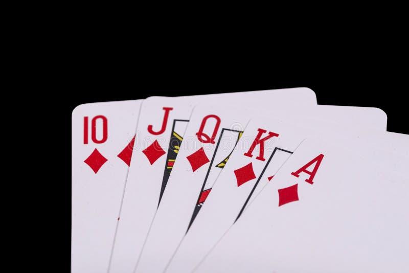 Koninklijke Vloed Geïsoleerde speelkaarten royalty-vrije stock fotografie