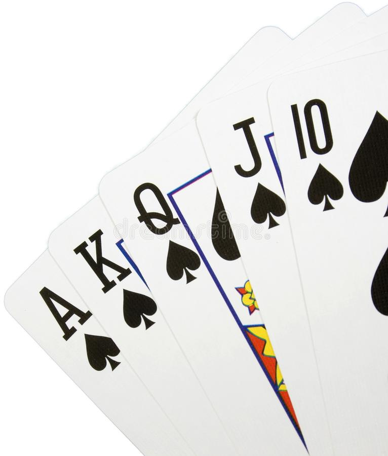 Koninklijke vloed met spades royalty-vrije stock afbeeldingen