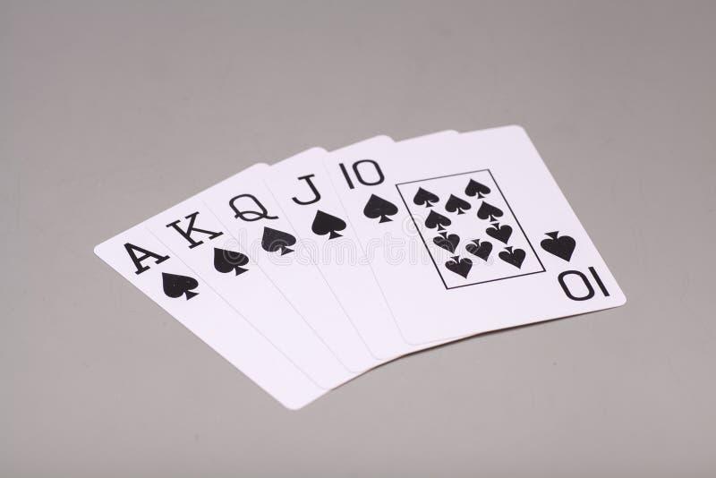 Koninklijke Vloed (speelkaarten) royalty-vrije stock afbeeldingen