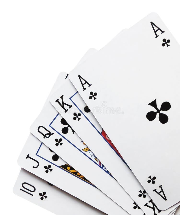 Koninklijke vloed, speelkaarten stock afbeelding