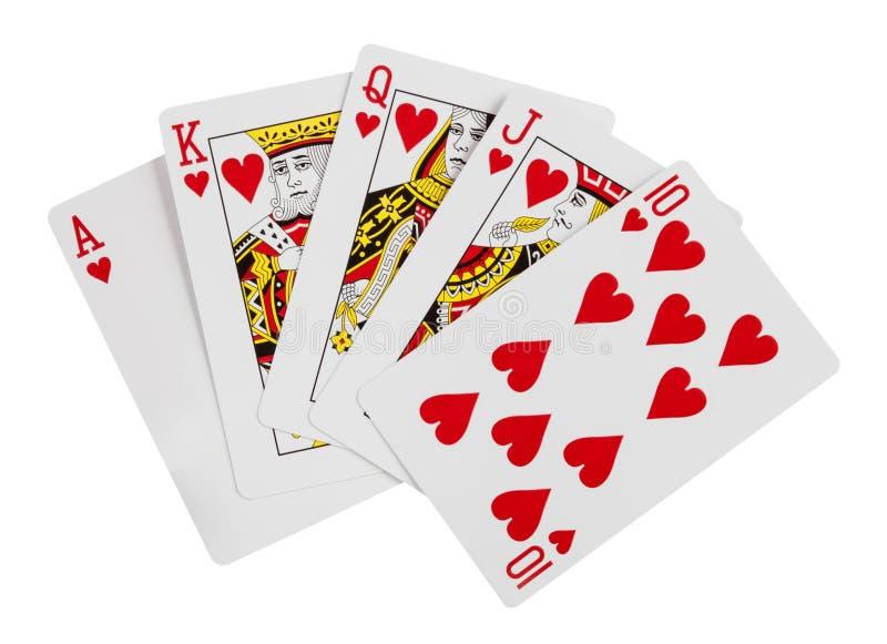Koninklijke Vloed Speelkaarten op een witte achtergrond royalty-vrije stock foto
