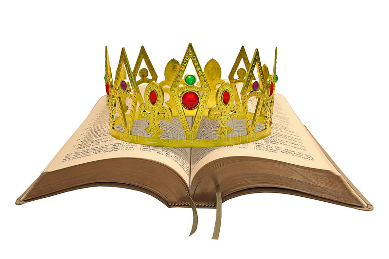 Koninklijke wetsbijbel stock afbeelding