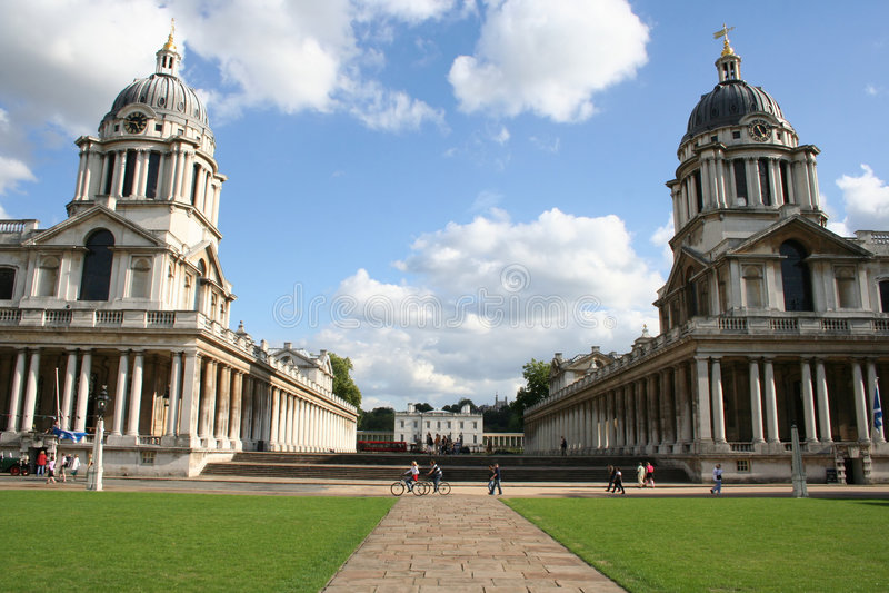 Koninklijke zeeuniversiteit Greenwich royalty-vrije stock afbeeldingen