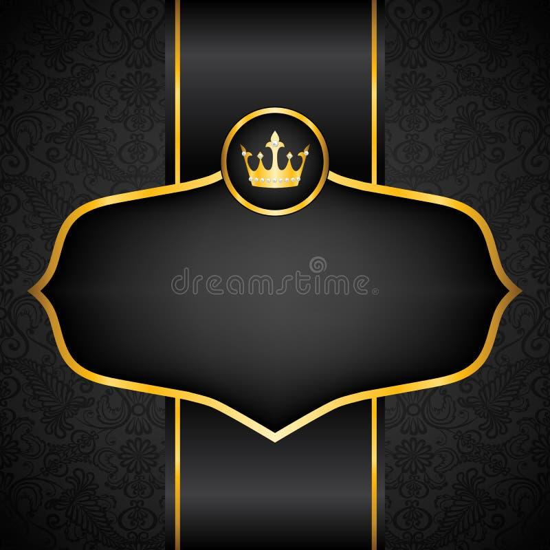 Koninklijke zwarte achtergrond royalty-vrije illustratie