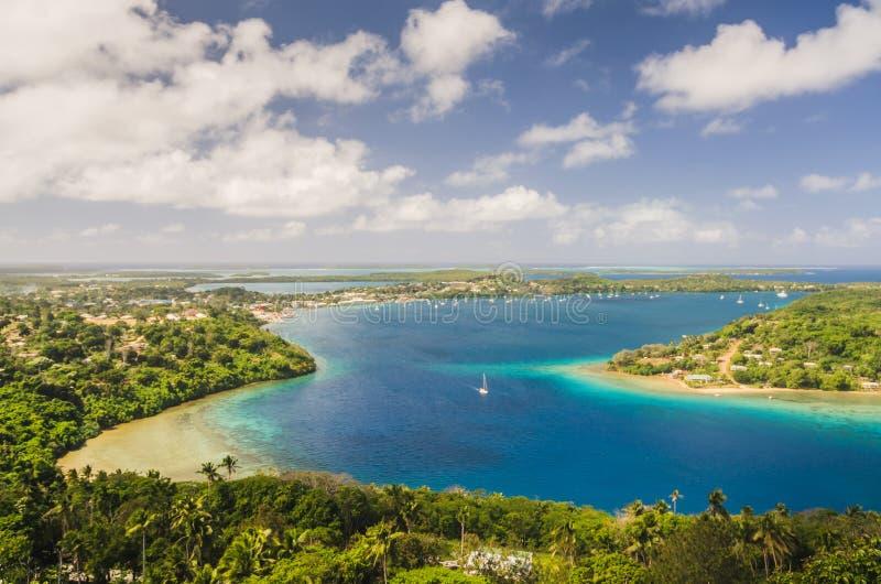 Koninkrijk Tonga van hierboven stock afbeelding