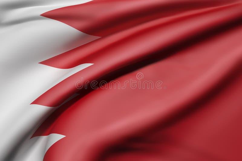 Koninkrijk van de vlag van Bahrein royalty-vrije illustratie
